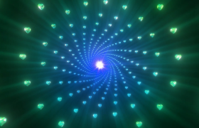 4款4K级爱心宝石隧道循环梦境背景视频素材