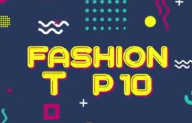 卡通十秒倒計時商品促銷秒殺活動時尚廣告宣傳包裝AE模板Fashion Top 10 Countdown
