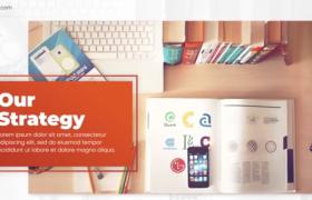 時間軸現代企業商務活動宣傳發展圖文展示視頻AE模板Elegant Blue Corporate