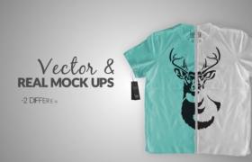 森系印花T恤衫展示文藝清新襯衫展示宣傳短片廣告AE模板T-Shirt Mock Up Promo Pack