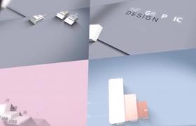 多彩三維信息圖片動態展示數據3D Infographics Set動畫制作AE模板