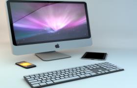苹果电脑/苹果手机/ipad mini全套苹果品牌办公电子设备Cinema4d模型