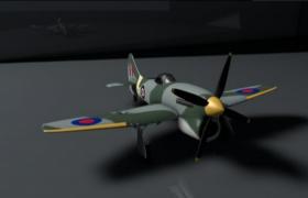 多輛卡通logo貼圖裝飾的二戰美軍轟炸機C4D模型