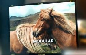 含笔记本边款的摄图影像高清图文媒体展示动画AE影视预告片模板