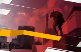 AE模板-布條效果創意遮罩時尚體育運動圖文展示視頻秀欄目包裝模板