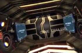 創意三維穿梭效果游戲頻道開場包裝欄目宣傳片頭AE模板
