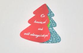 可爱卡通元素文字祝福话语圣诞节邮箱简讯问候AE模板