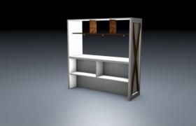 白色簡約主臥木質格調衣柜simple c4d models物理渲染模型