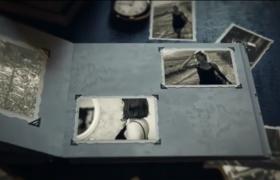 AE模板-三维相册老历史照片排版展示记录过往图文展示视频模板