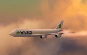 AE模板-創意航空旅行記錄愉快的飛機旅行動畫展示旅行社廣告創意視頻模板