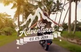 AE模板-夏日风情旅游旅行生活记录时间线图文相册展示视频模板