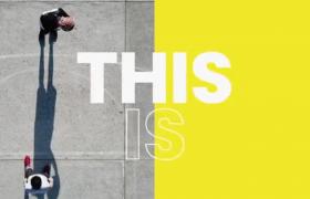 AE-时尚风采嘻哈都市运动图文遮罩展示栏目包装开场视频模板