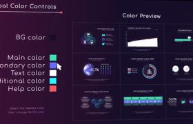 AE模板-柱狀信息圖表自動生成視頻制作快速包裝預設模板