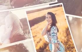 AE模板-溫馨浪漫的照片堆疊展示一串串美好的回憶相冊集視頻模板