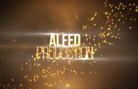 震撼金属冲击感金色logo标题字幕展示大气宣传片头AE模板