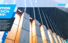 AE模板-蓝色大气图文幻灯片展示企业文化宣传短视频模板
