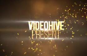 AE模板-金色粒子火花效果大气影视大片开场震撼文字标题展示视频模板