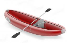 红色单人气球皮划艇canoe and kayak 3d model下载(含贴图)