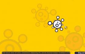 AE模板-黄色卡通风格冠状病毒信息展示疫情预防宣传短片视频模板