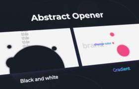 AE模板-抽象几何动画印刷幻灯片图文展示宣传视频模板