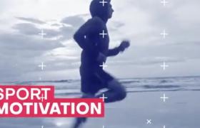 AE模板-雪花效果體育運動欄目宣傳圖文展示視頻模板