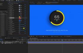 AE模板-4K信息數據圖標可視化動畫進度條展示視頻模板