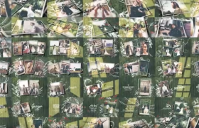 波西米亞風/原始/黑白3個類型120+場景漏光轉場特效浪漫婚禮主題動畫AE模板