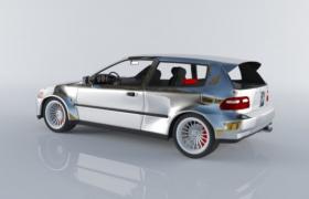 家用两厢小轿车3D效果图(max格式)