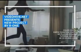 15個現代生活極簡藝術主義圖文動畫樣機白色框架視頻動畫aep文件下載