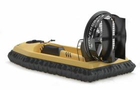 黄色气垫汽油发动机救生艇水上救援工具3D模型