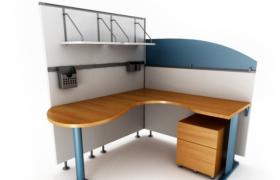 商务楼独立办公区域3维桌面空间效果图展示(含贴图)