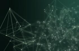 視頻素材-綠色科技點線鏈接創意商務協作公司宣傳開場視頻素材
