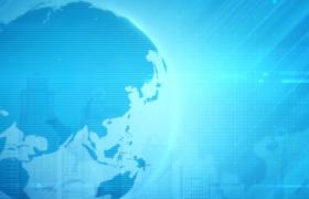 視頻素材-科技地球旋轉創意新聞欄目包裝背景視頻素材