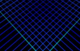 VJ视频素材-蓝色网格线条变换酷炫舞台演绎动感背景视频素材