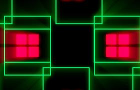 VJ视频素材-红绿方块动感变换酒吧舞厅舞台演绎酷炫背景视频素材