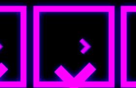 VJ视频素材-暖色几何图形变换酷炫创意舞台演出背景视频素材