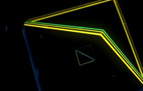 VJ视频素材-空间线条几个图形穿梭展示酷炫开场舞台背景视频素材