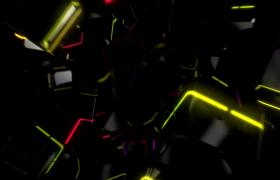 VJ视频素材-方形隧道条纹光线闪烁创意VJ背景视频素材