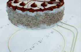 精美手工甜品作坊自制巧克力甜心蛋糕展架3D模型