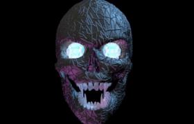 暗黑系鬼面晶体状骷髅头个性恐怖头套3D效果模型展示(含贴图)