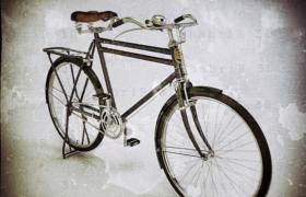 直梁设计复古二八式phoenix自行车3D模型效果图