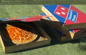 纸质方盒包装外卖披萨3D模型展示(max格式)