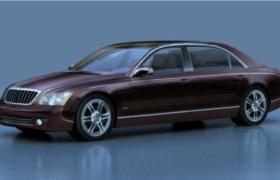 紫色外观豪华顶配工艺打造商务型轿车3d max model模型下载