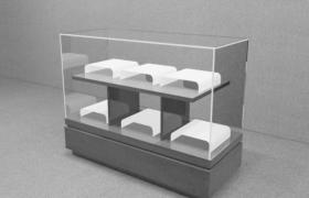 高品質玻璃柜臺鉆石珠寶陳列柜3D模型(含貼圖)