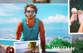 慢動作炫暈效果歡樂暑假夏日幻燈片展示AE模板Summer Holidays Slideshow
