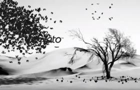水墨古风意境中国风开场动画TItle字幕展示AE视频模板