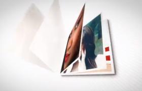 個性相冊時尚翻頁閉合動畫VideoHive圖文照片展示AE模板