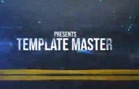 AE模板-能量公路标题文字展示创意宣传片开场动画视频模板