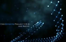 AE模板-Plexus粒子科技螺旋連線創意文字標題宣傳動畫視頻模板