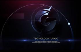 快速失帧过度特效转场高科技视觉动画logo标志演绎片头AE模板Glitch Tech Logo